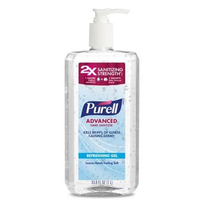 Purell Advanced Hand Sanitizer Refreshing Gel Pump Bottle - 33.8 fl oz YMMV $4.99 to $5.49