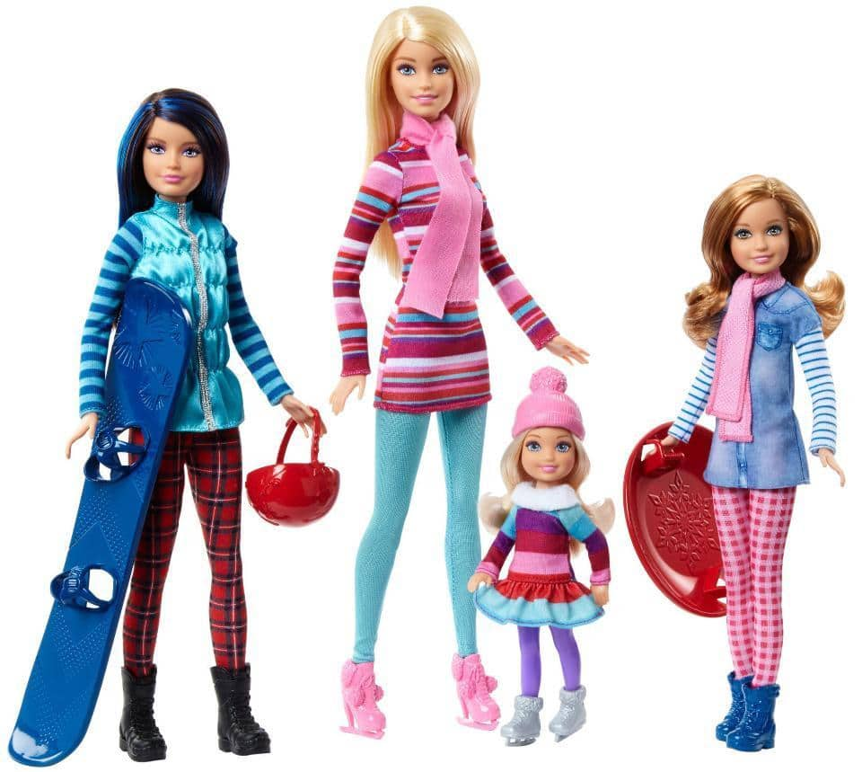 Barbie Sisters Winter Getaway Fashion Dolls - $34.99, Beyblade Burst Avatar Attack Battle Playset - $43.99, LEGO City Jungle Air Drop Helicopter - $96.99