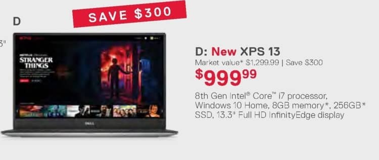 Dell Home & Office Weekly Ad: New XPS 13 for $999.99