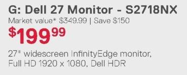 Dell Home & Office Weekly Ad: Dell 27 Monitor - S2718NX for $199.99