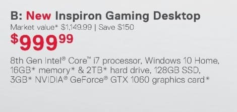 Dell Home & Office Weekly Ad: New Inspiron Gaming Desktop for $999.99
