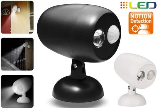 Yugster: Indoor/Outdoor LED Security Spotlight with Motion Sensor - $7.99
