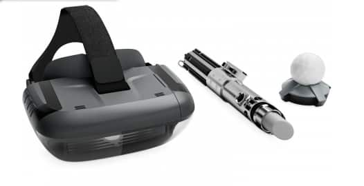 Abt: Lenovo Star Wars: Jedi Challenges AR Headset w/ Lightsaber Controller and Tracking Beacon ZA390002US - $169
