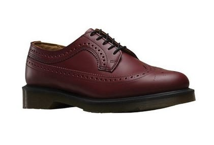 Jet: Dr Martens Unisex 3989 5 Eye  Brogue Bex Sole - $84.95 + FS