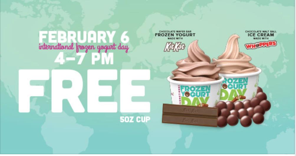 FREE: Yogurt @ Yogurtland (2/6 4PM to 7PM)