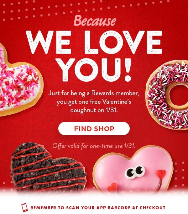 FREE: Krispy Kreme Doughnut (1/31 only)
