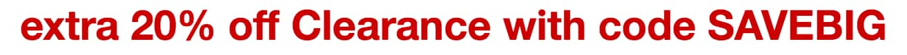 Target: Extra 20% off Clearance + 5% off (with RedCard)