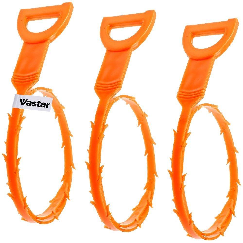 Vastar AG111 3-Pack 23.6-Inch Drain Snake Hair Drain Clog Remover Cleaning Tool $4.99 @Amazon
