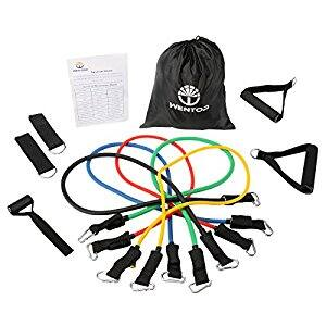 WenTop Resistance Band Set Detachable Heavy Duty Resistance Bands Workout Bands, $14.39 @Amazon