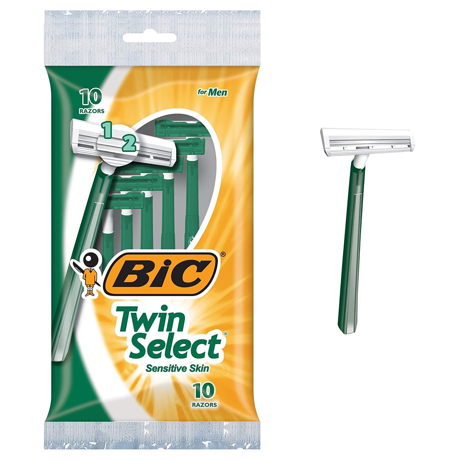 BIC Twin Select Men's Disposable Razor, 30 count $5.87