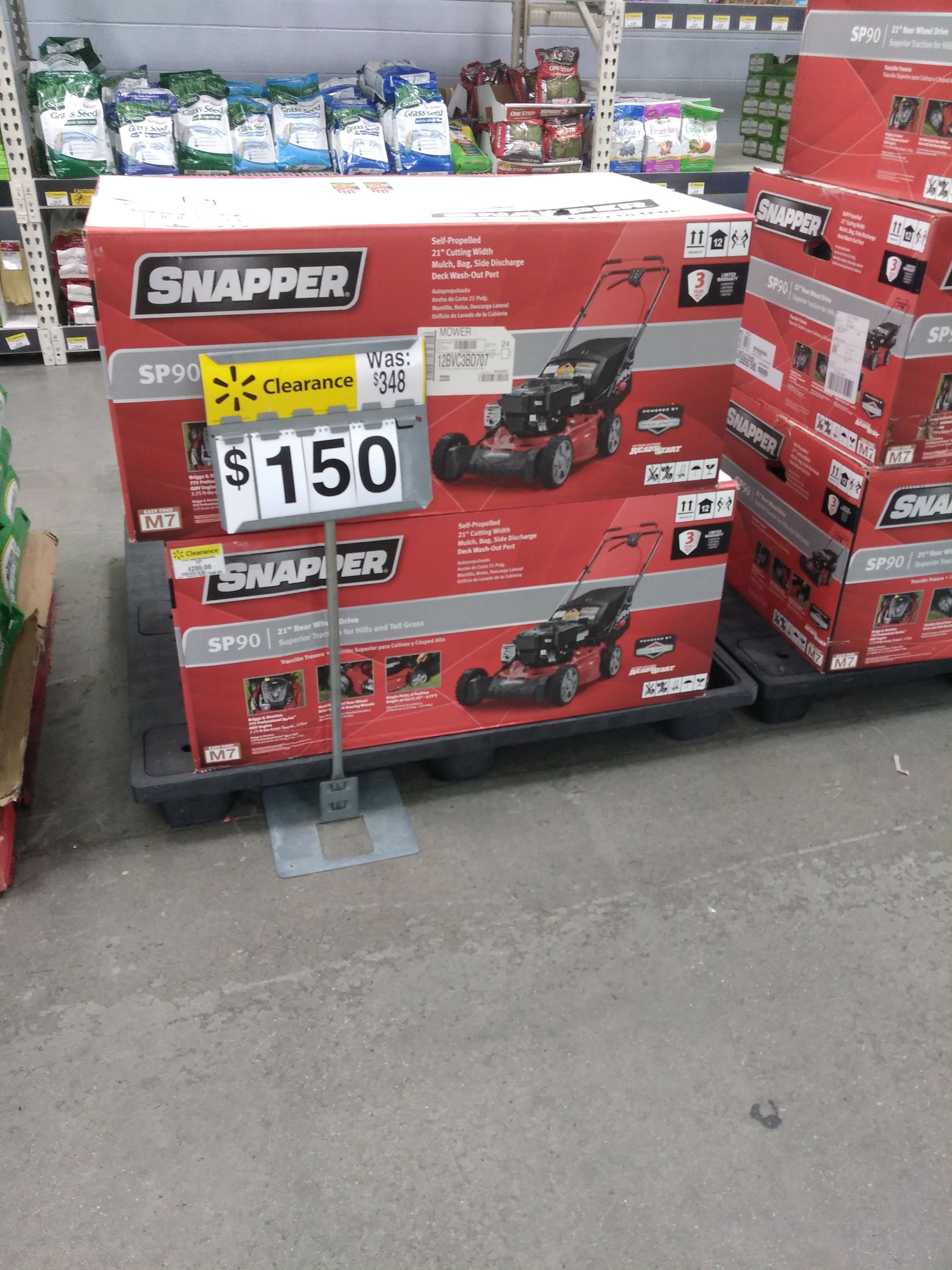 """Snapper SP90 self propelled 21"""" mower with deck wash $150 Clearance"""