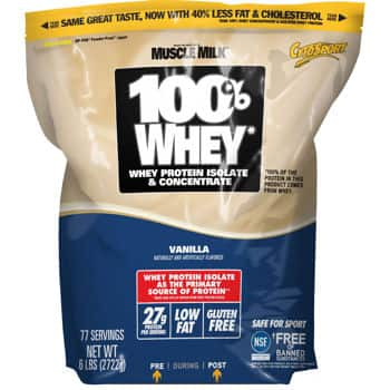 Cytosport 100% Whey Protein Vanilla or Chocolate 6lbs $31.99