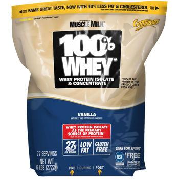 Cytosport 100% Whey Protein Vanilla or Chocolate 6lbs $31.99