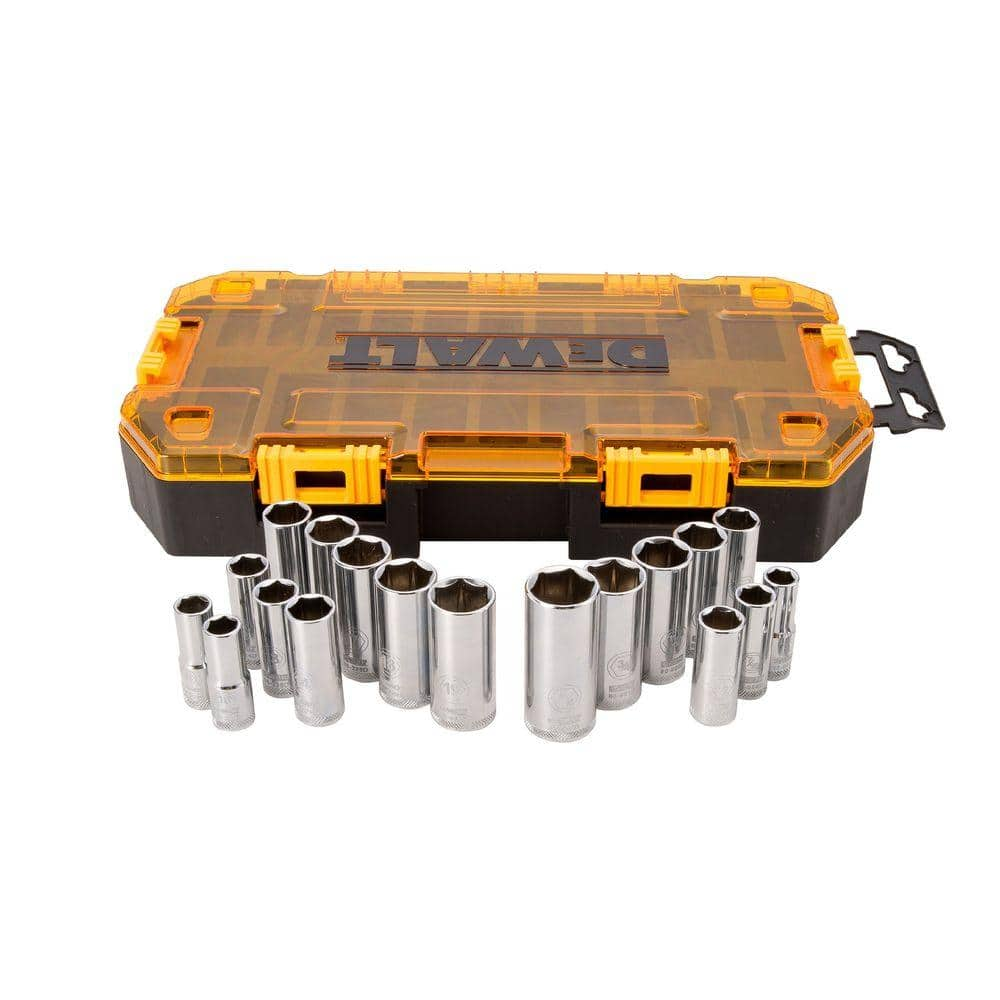 3/8 in. Drive Deep Combination Socket Set with Case (20-Piece) -$20