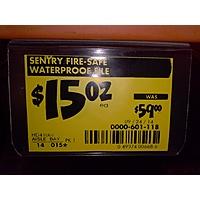 Home Depot Deal: Sentry Fire Safe $15 - Home Depot B&M YMMV