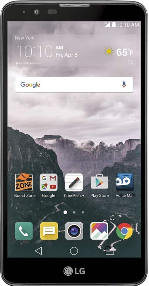 Boost Mobile - LG Stylo 2 4G with 16GB Memory Prepaid Cell Phone - Titan Silver $70 at Best Buy