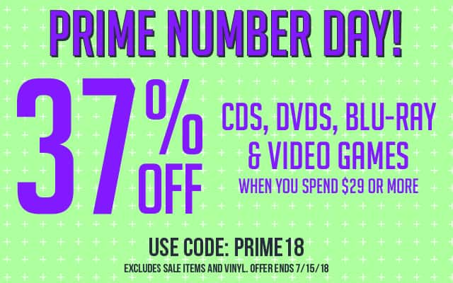 SecondSpin Prime Number Day 37% off cds, movies and games