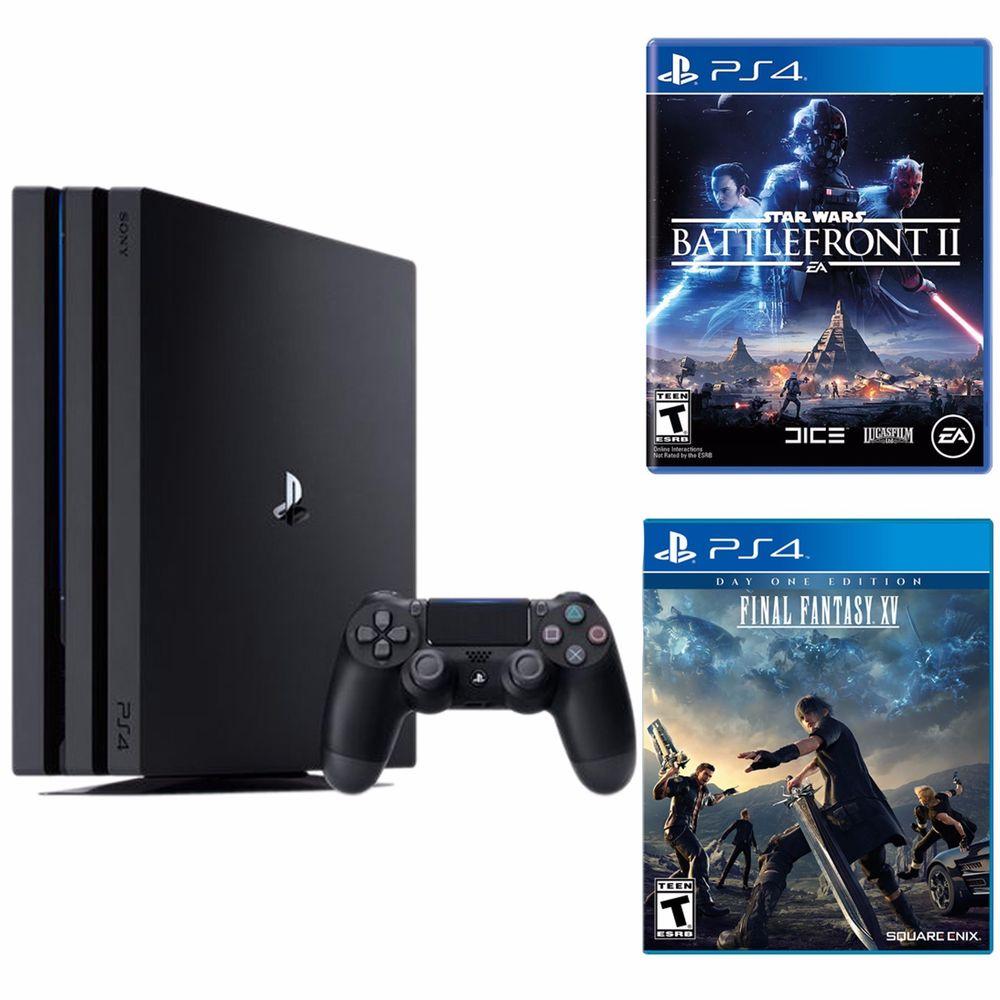 Bundle Playstation 4 Pro 1TB Console + Star War Battle Front 2 + Final Fantasy XV $400 Newegg