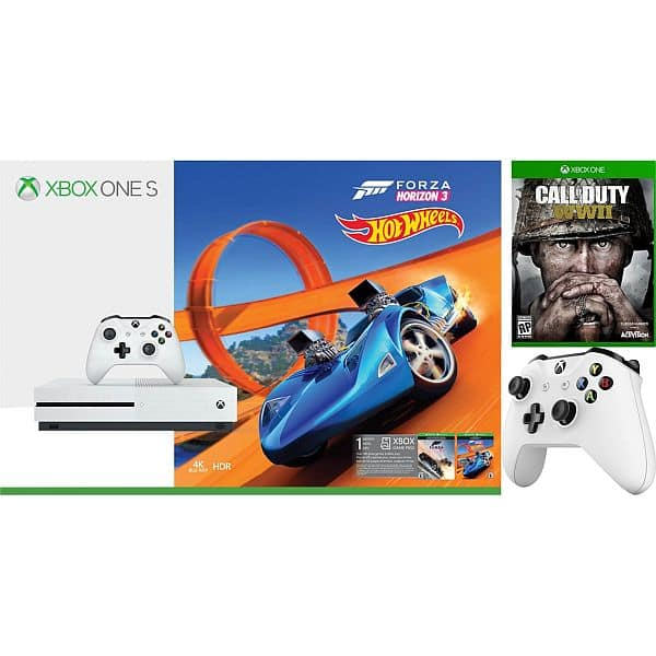 Microsoft Xbox One S 500GB Forza Horizon 3 with Call of Duty: WWII Bundle - AAFES (Military Only) $189