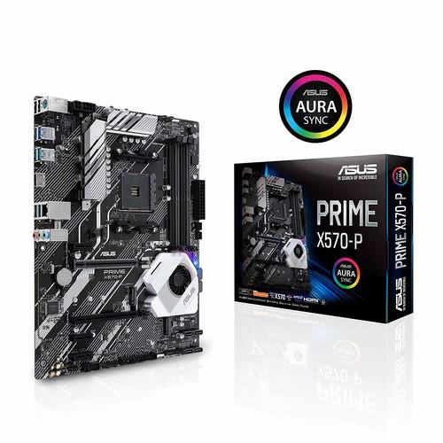 ASUS Prime X570-P Ryzen 3 AM4 with PCIe Gen4, Dual M.2 HDMI, SATA 6GB/s USB 3.2 Gen 2 ATX Motherboard $127.5
