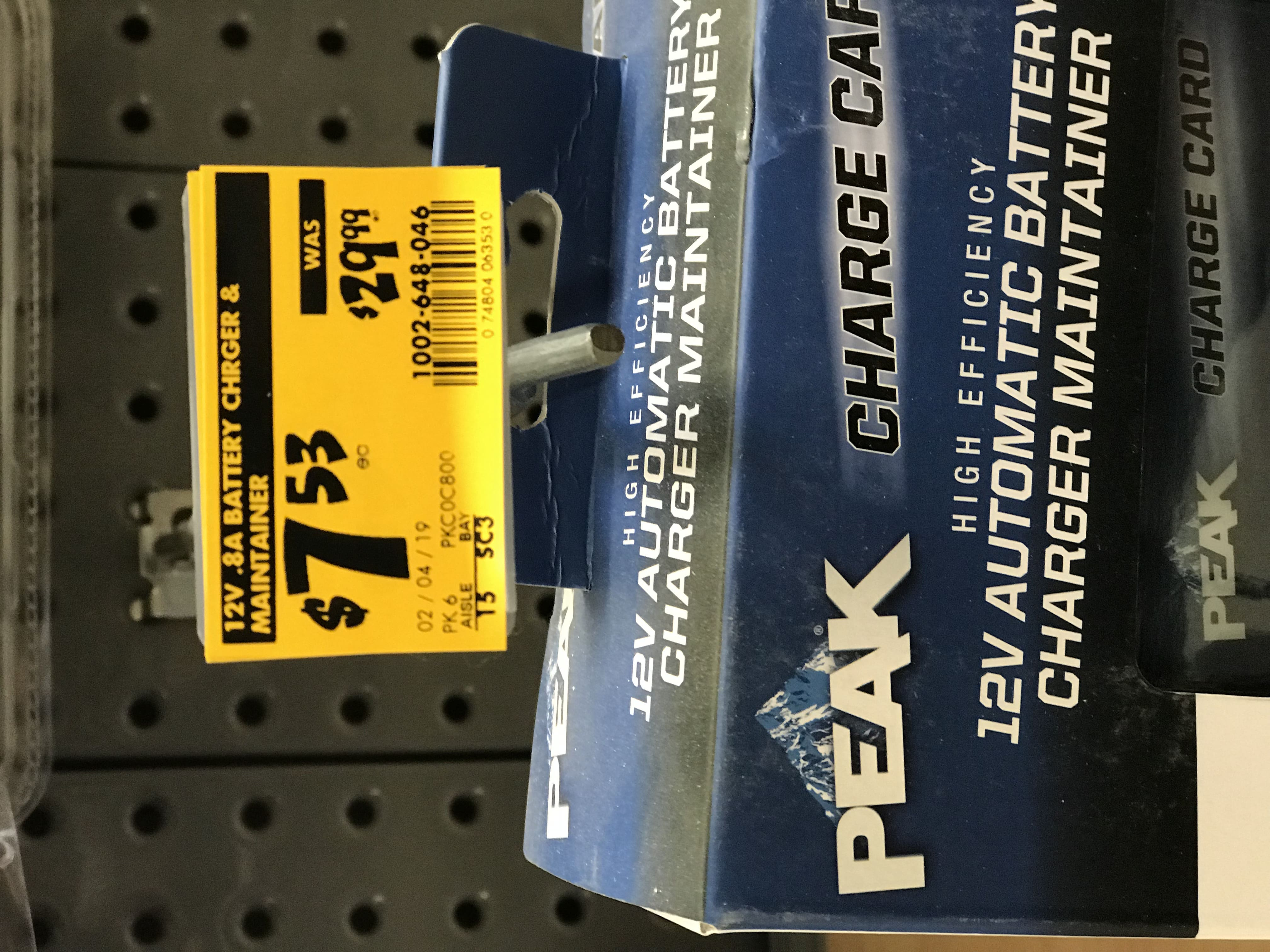 YMMV Peak battery maintainers (.8 and 1.5 amp models) $7.53
