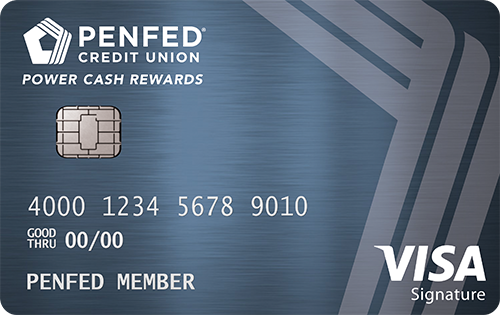 PenFed Power Cash Rewards Visa - 2% cash back on all purchases
