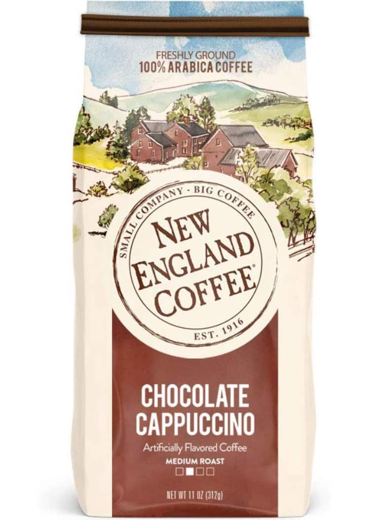 New England Coffee Chocolate Cappuccino, 11 Ounce Bag - As low as 3.21 ($3.59 w/ 5% S&S)