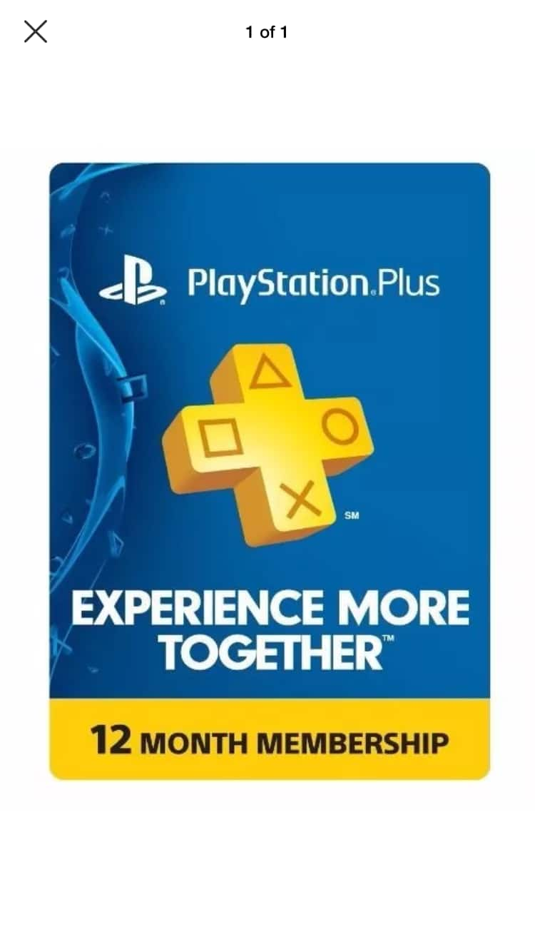 Playstation Plus 12-month membership - $36.99