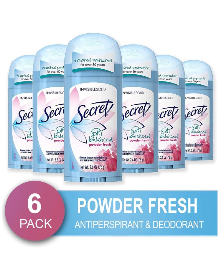 6-Pack 2.6oz Secret Women's Antiperspirant & Deodorant (Powder Fresh Scent)