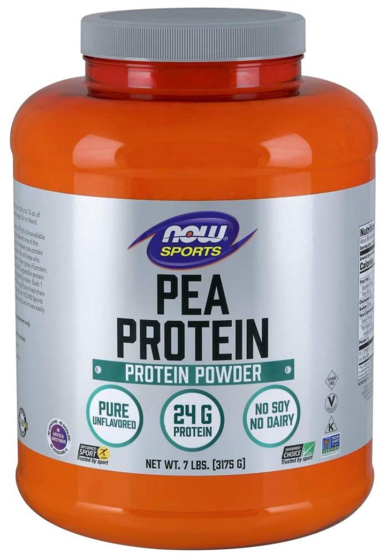 NOW Sports Nutrition, Pea Protein 24g, Dairy-Free 7-Pound - $35.05