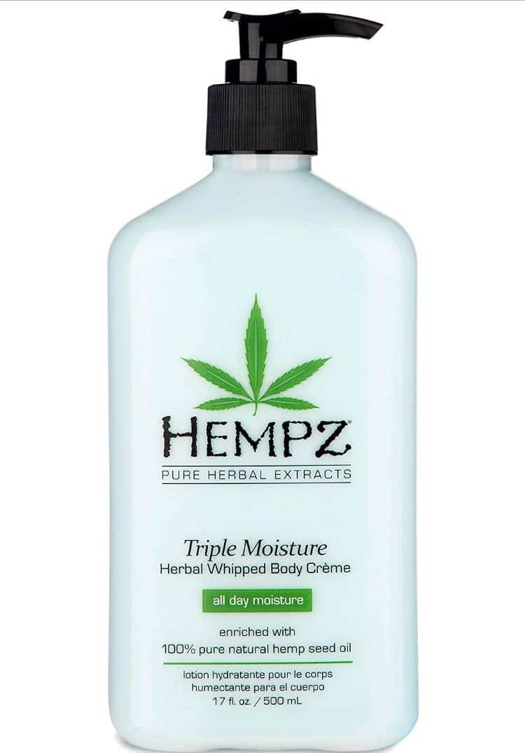 Hempz Natural Triple Moisture Herbal Whipped Body Cream Body Lotion (17 oz) - $8.45