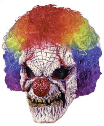 Clown Adult Halloween Mask with Wig  $11.76 (was $19.99) Walmart