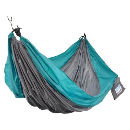 2-Person Nylon Travel Hammock with Hanging Kit $12