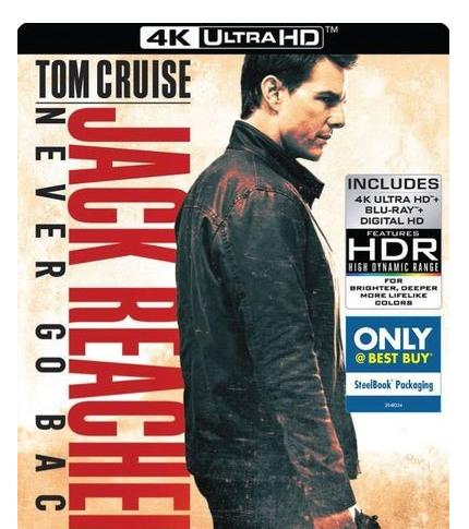 Jack Reacher: Never Go Back 4k/Blu/Digital Steelbook $19.99 or Bluray/DVD Steelbook $14.99 @BestBuy