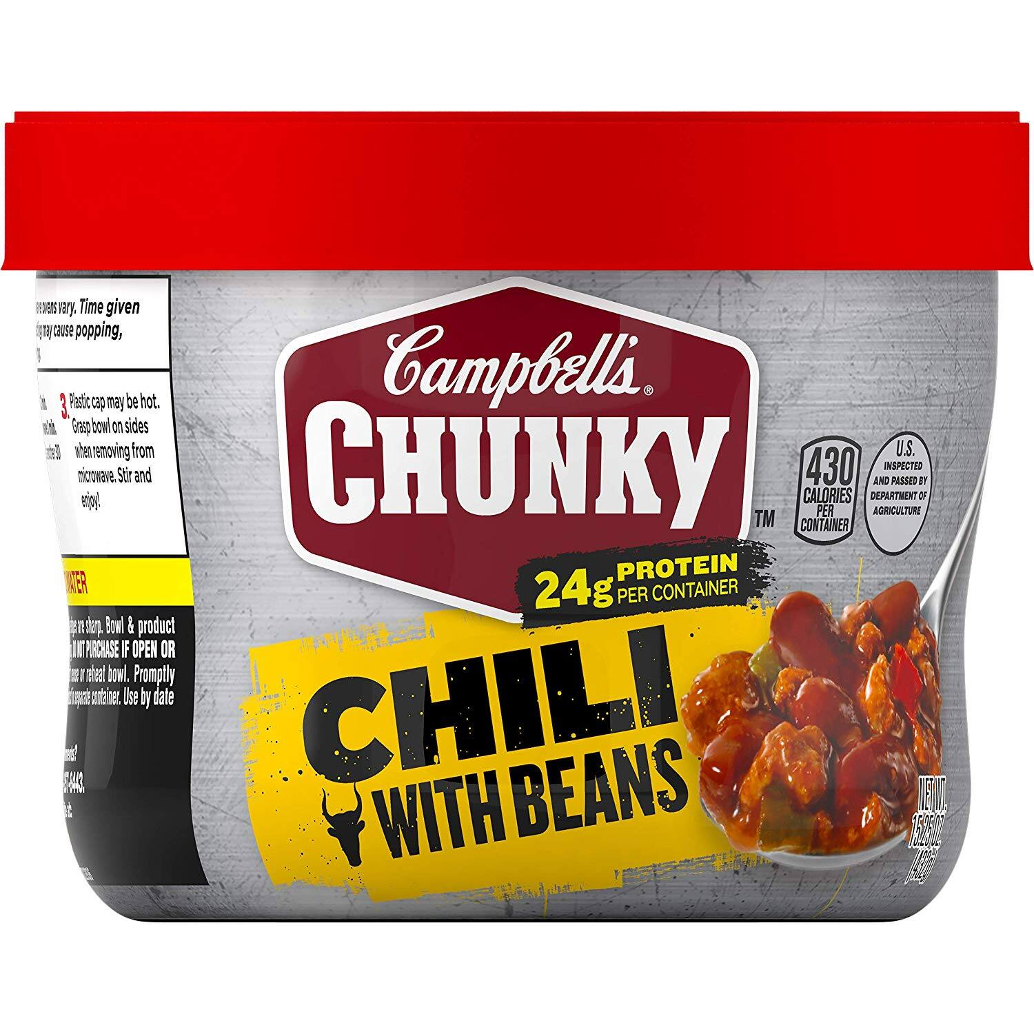 $0.39 Amazon Fresh - Campbell's Chunky Chili with Beans, 15.25 oz. Microwavable Bowl YMMV