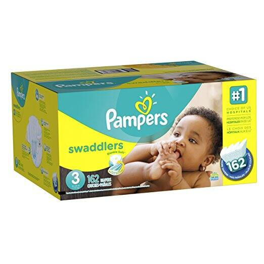 Amazon Prime Pampers Swaddlers Diapers Size 3, 162 Count $18.18 ($0.11 / Count)