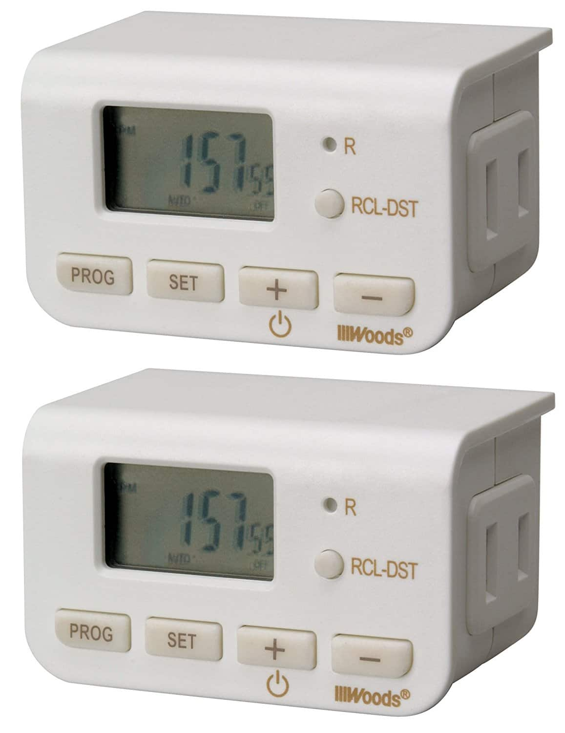 Add-On Item: Woods 50007WD Indoor 24-Hour Digital Plug-In Timer, 2 Pack, 1 Polarized Outlet $3.46