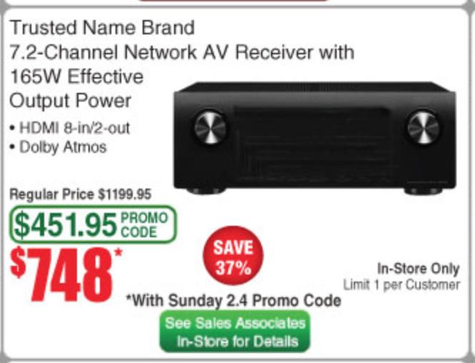 Promo Code Deal: Yamaha RX-A1070 $748