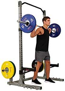 Sunny Health & Fitness Power and Squat Rack with High Weight Capacity, Olympic Weight Plate Storage and 360° Swivel Landmine and Power Band Attachment $250 at Amazon