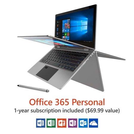 Direkt-Tek 11.6 Inch Convertible Touchscreen Laptop, Windows 10, Office 365 Personal 1-Year Subscription Included ($69.99 Value), Windows Hello (Fingerprint Reader) $149