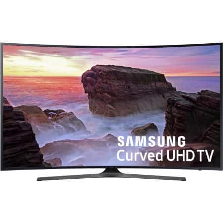 "Samsung 55"" Class Curved 4K (2160P) Smart LED TV ``500 bucks off $697.99"