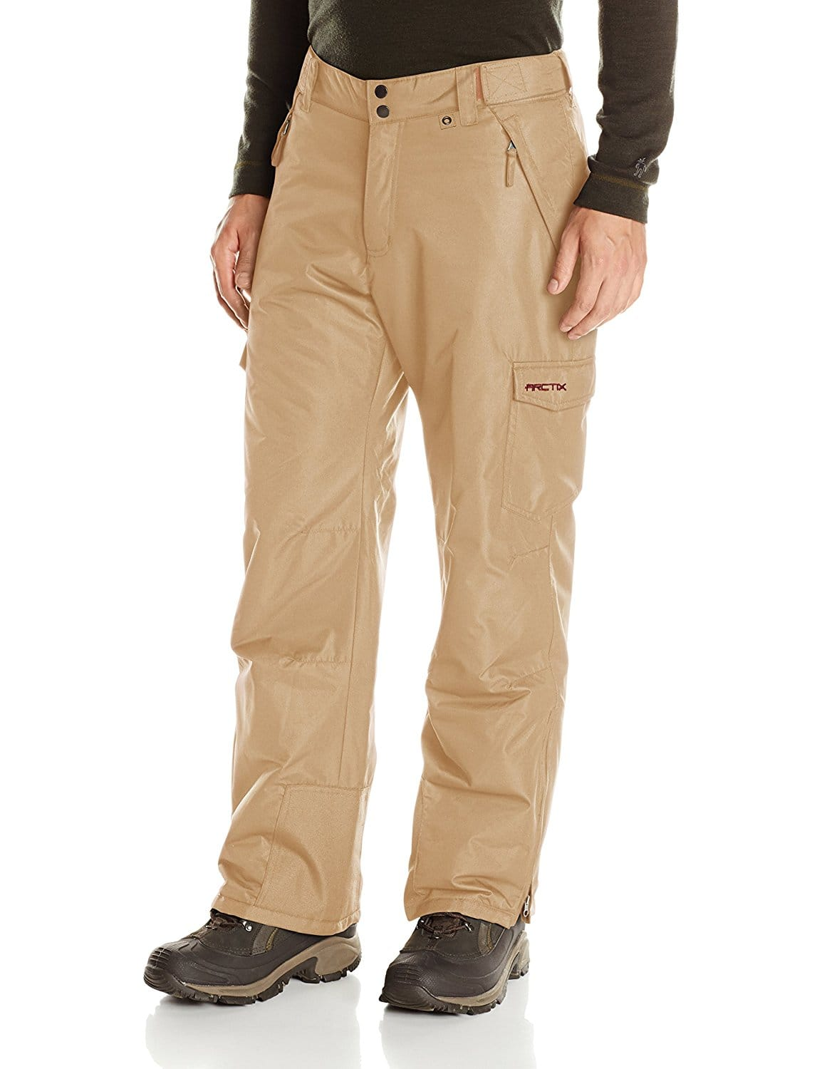 Arctix Men's Snow Sports Cargo Pants - Size Medium (for biggest discount) -  Color Khaki - Amazon  - Add on Item - $6.41