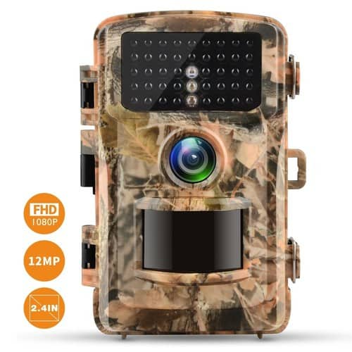 "Trail Camera 1080P Hunting Cam 12MP 2.4"" Color LCD Wildlife $49.59 @Amazon +FS"