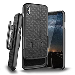 iphone X Case with Rotating Holster Belt Clip and Kickstand for $3 AC + FS @Amazon