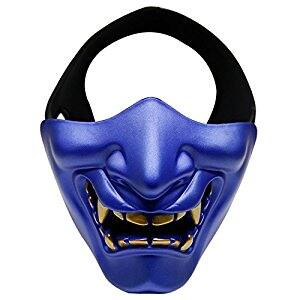 Half Face Airsoft Mask, Outgeek Tactical Paintball Mask Lower Face Protective Mask for $6.39 @Amazon
