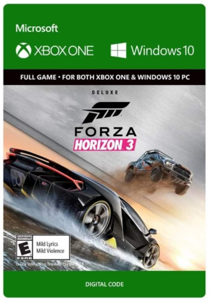 Xbox One Forza Horizon 3 Deluxe Edition - Digital PC and Xbox $33.49