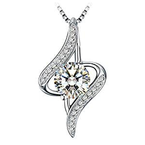 "Women's Jewelry 925 Sterling Silver ""The Eye of Lover"" Pendant Necklace, 18''+ 2"" Extender $14.75 @Amazon"