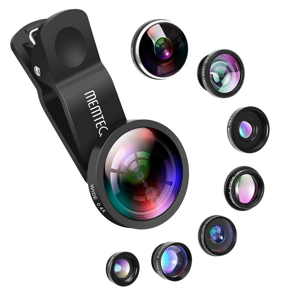 MEMTEQ Universal 8-in-1 Cell Phone Camera Lens Kit $11.89 @Amazon
