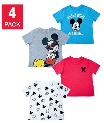 Costco Disney 4 pack Tee When you buy 5 only $1.50 each.