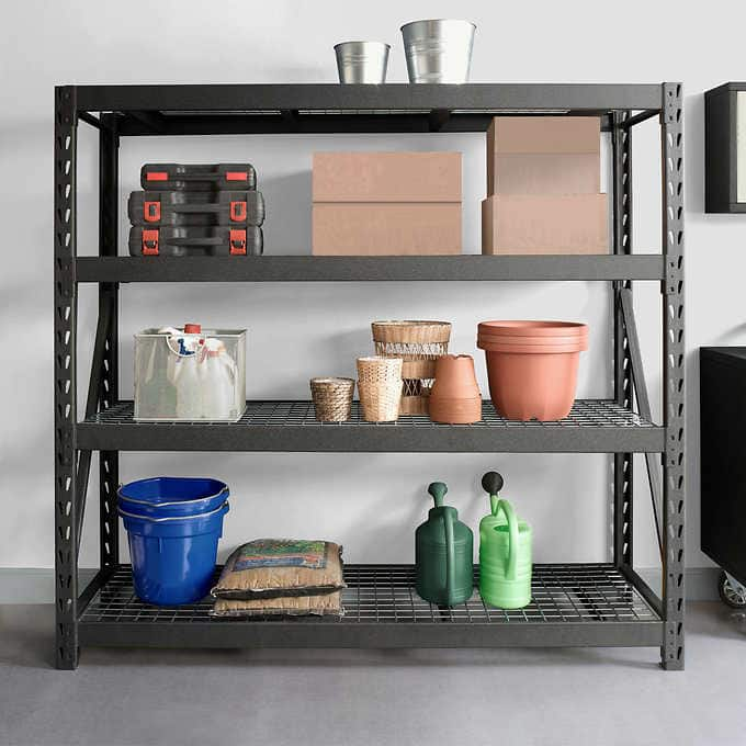 "Costco Whalen Industrial Rack, 77""W x 24""D x 72""H B&M - Until 8/19 $139.99"